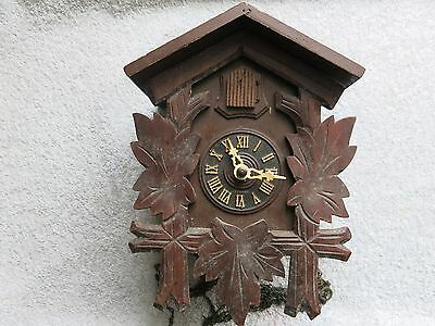 Vintage German Black Forest Cuckoo Clock With Movement And Bird For Restoration