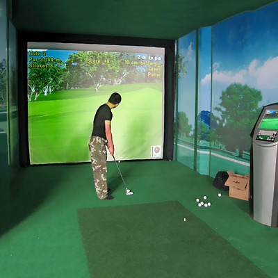 Indoor M99G 9.8'x3.3 Impact Display Projection Training Screen Golf Simulator