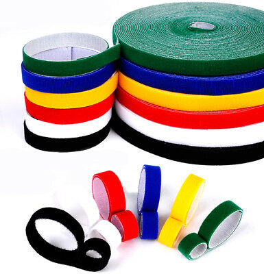 Colour Self Adhesive Sticky Back Hook And Loop Fastener Tape 10/20mm Width