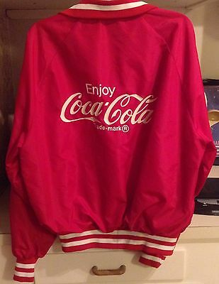 Vintage 1970's King Louis Pro Fit Red Nylon COCA-COLA Collector's JACKET Size L