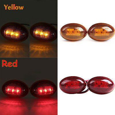 For 99-10 Ford F350 Side Amber Fender Marker Dually Bed LED Replacement Lights#