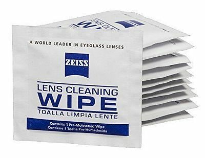 100x Zeiss Pre-Moistened Lens Cloths Wipes Glasses Camera 100ct