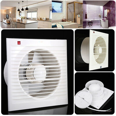 "4"" 6"" 8"" Ventilating Exhaust Extractor Fan For Bath Toilet Kitchen Window Wall"