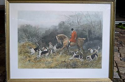 "Druck von Heywood Hardy "" A short cut to the meet""  London Photogravure Syndicat"