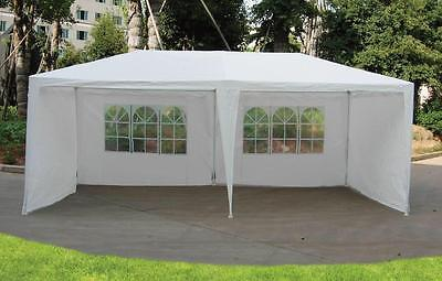 3m x 6m White Waterproof Garden Outdoor Gazebo Party Tent Marquee 2 Support Beam