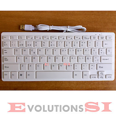 Teclado Español Con Cable Usb Compatible Mac Pc Windows Con Letra Ñ Extrafino