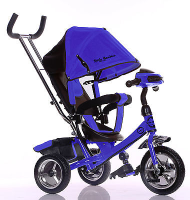Little Bambino 4 IN 1 Canopy Kids Tricycle Toddler Age 1-6 BLUE