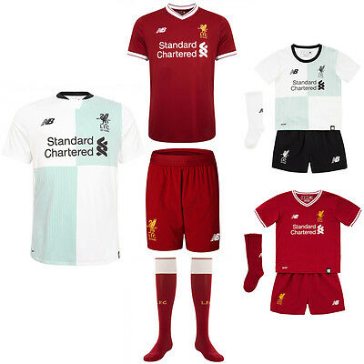 Liverpool Home + Away Kit NEW 2017-18 - Top, Shorts, Socks - Adult Junior 2018