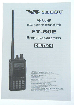 YAESU FT-60E Original Bedienungsanleitung in Deutsch - Neuware