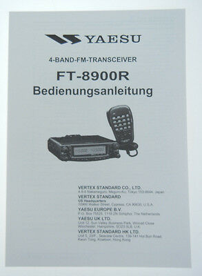 Yaesu Ft-8900R Original Bedienungsanleitung in Deutsch