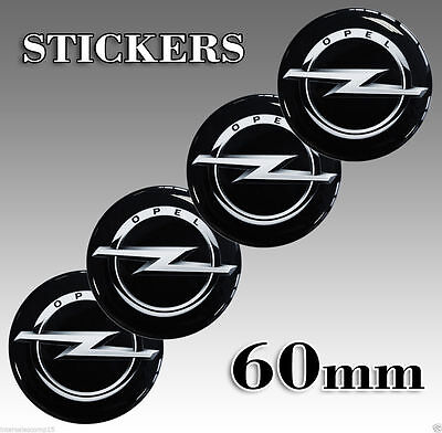 4 x 60mm OPEL CENTRE SILICONE STICKERS WHEEL DOME HUB CAPS EMBLEM A 36