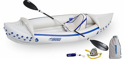 NEW! SEA EAGLE 330 2 Person Professional Inflatable Sport Kayak Canoe w/  Paddles