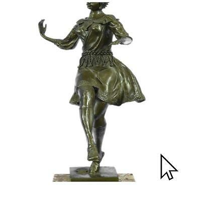 Sculpture Joe Descomps Art Deco Dancer Bronze Sculpture