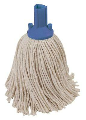 14oz Socket Mop Head Blue Floor Cleaning Industrial Heavy Duty Colour Coded