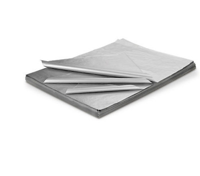 """Metallic Silver 10 Sheets Acid Free Tissue Wrapping Paper 450mm x 700mm 18"""" x 28"""