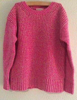 NWOT Crewcuts Girls Pink Sparkle Sweater Size 6/7