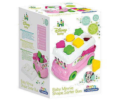 Minnie Mouse Baby Disney Bus Shape Sorter Bus Junior Clementoni 14933  Rrp £20