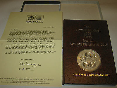 Cayman Islands 1975 Six-Queens $50 Fifty Dollar Silver Coin
