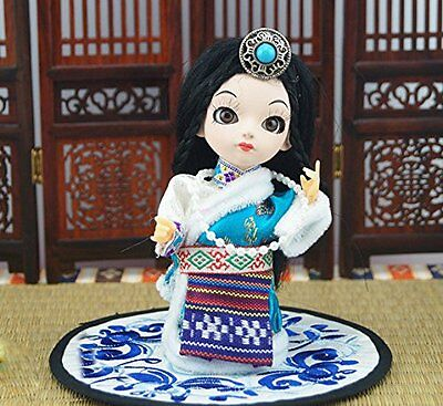 5'' Mini Q Version Cute Chinese Ethnic Minority Tibet Zang Girl Asian Doll