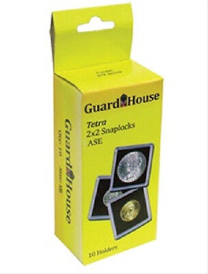 10 Guardhouse 2x2 Tetra Snaplock Coin Holders for Silver Eagle 40.6mm