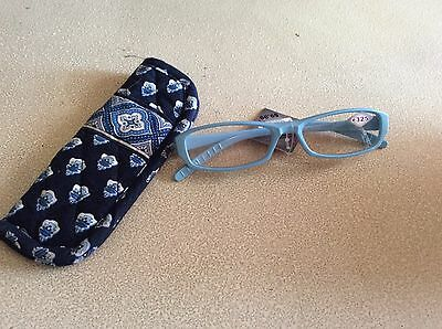Brand new eyeglasses, 3.25 w/Vera Bradley cloth eyeglass case