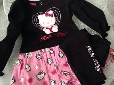 Hello Kitty Infant 2 Piece Top and Pants Pink & Black Set Gift
