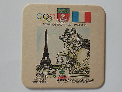 Montreal 1976 Olympic Games Beer Mat Coaster Team France Paris 1900 Olympics