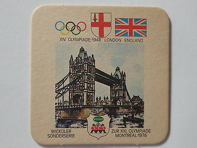 Montreal 1976 Olympic Games Beer Mat Coaster Team England 1948 London Olympics