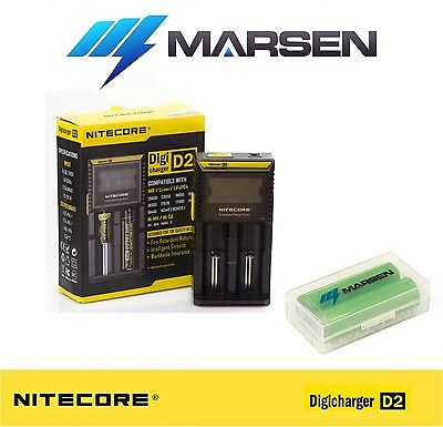 Nitecore D2 charger with LG 18650-MJ1 3500mAh High capacity Lithium batteries