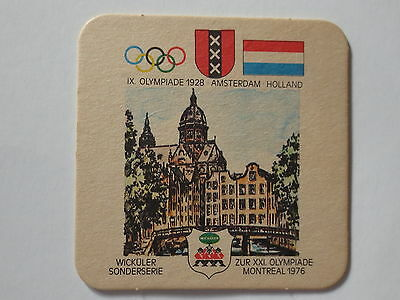 Montreal 1976 Olympic Games Beer Mat Coaster Team Holland 1928 Amsterdam Olympic