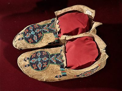 Early North American Indian Mocasins.  Great Beadwork.