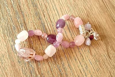 Oneness Ascension Healing Bracelet Sacred Super 7 Kunzite Herkimer Light Worker