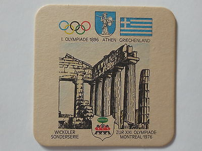 Montreal 1976 Olympic Games Beer Mat Coaster Team Greece 1896 Athens Olympics