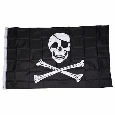 Pirate FLAG Skull and Crossbones Jolly Rodger Large 5x3' Size BF