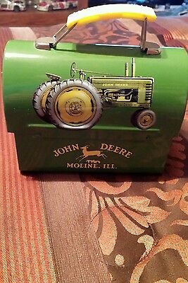 John deere collectors metal mini lunch box