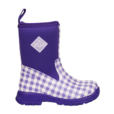 Kids Muck Purple Breezy Mid Insulated Rain Snow Boots 10-13 Youth 1,2,3,4,5,6,7