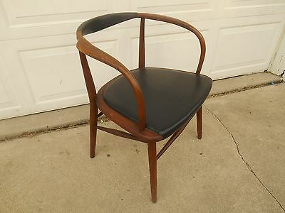 Rare Mid-Century Modern Solid Walnut Side Chair by Boling Chair Co.