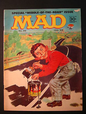 MAD MAGAZINE no. 96 July 1965 Middle of the Road Issue