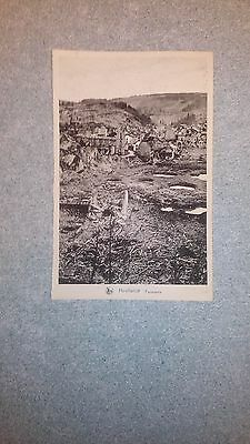 carte postale WW2 houffalize offensive des ardennes, panorama