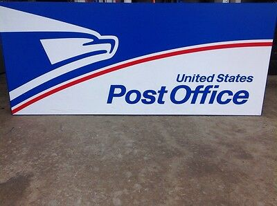 Lighted Exterior Post Office Sign