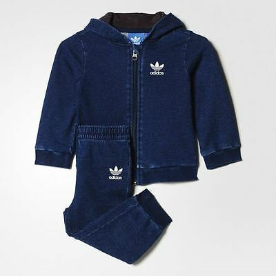 adidas Originals blue infant/baby boys tracksuit. Jogging suit. Age 6-9M & 9-12M
