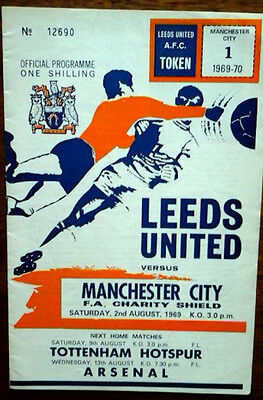 Leeds V Man City 2/8/1969 Charity Shield
