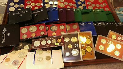 25 Us Proof & Unc Set Lot With Silver 1964-2012 Free Priority Shipping L@@k!!