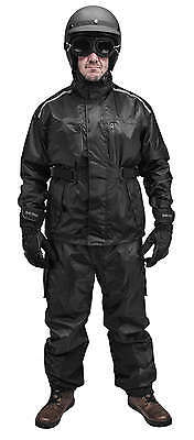 Black Brand Motorcycle Clothing Tempest Riding Rain Suit [2X-Large]