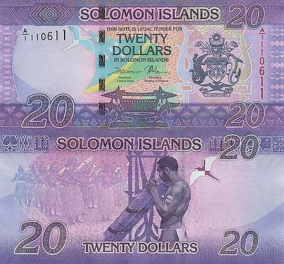 Solomon Islands 20 Dollars (ND/2017) - New Issue/Purple Note UNC