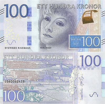Sweden 100 Kronur (2015) - Actress Greta Garbo/p71 UNC