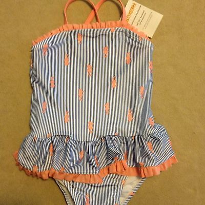 NWT Gymboree Outlet Girls Striped Seahorse One-Piece Swimsuit Size 18-24 Months