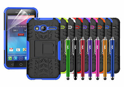 Alcatel Pixi 4 (4'') 4034X Case Cover Heavy Duty ShockProof Strong Hard Stand