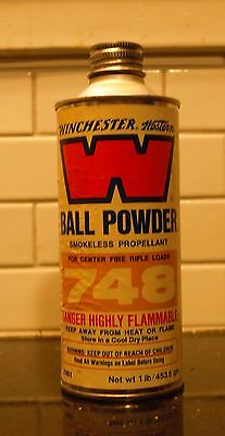 Vintage Winchester Ball Powder 748 canister/tin