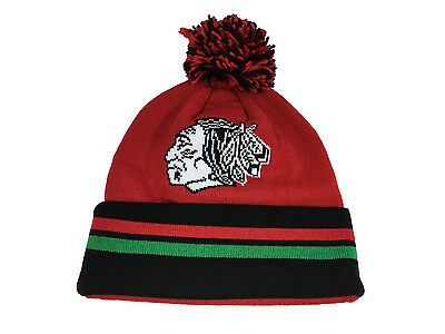 CHICAGO BLACKHAWKS NHL CHANGE UP Mitchell & Ness Beanie Pom Knit